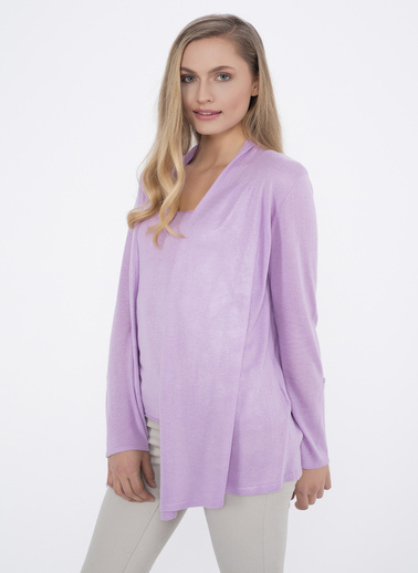 Silk and Cashmere Hırka Lila